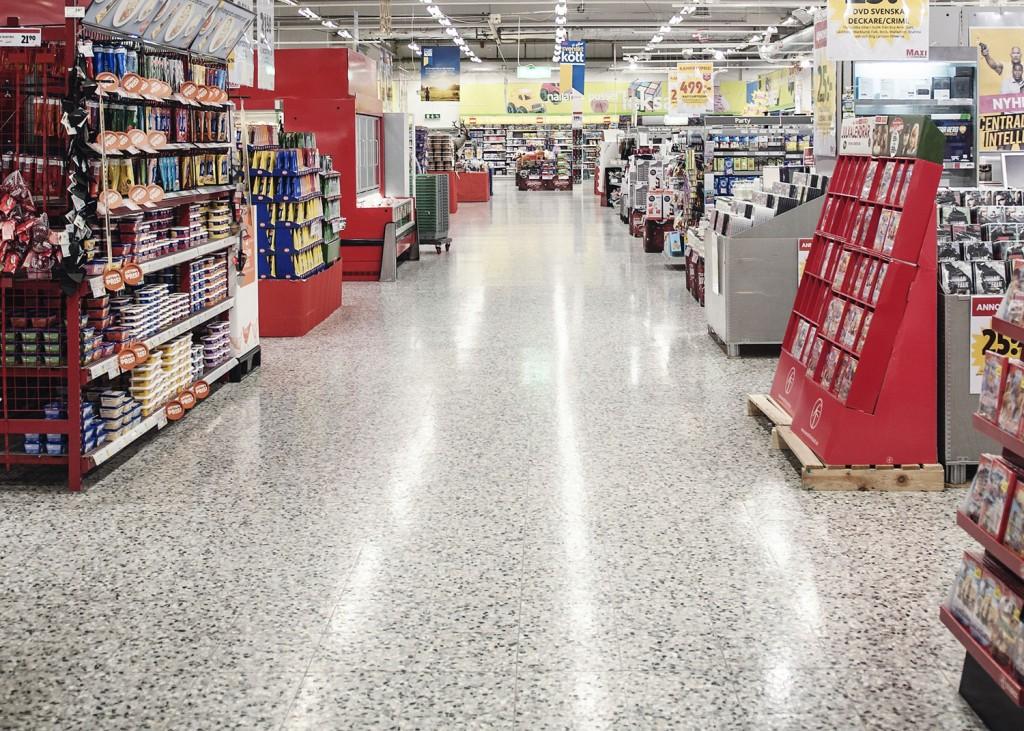 Ica Maxi Ingelsta, terrazzo floor